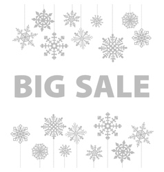 Winter sale background banner and snow Christmas vector image