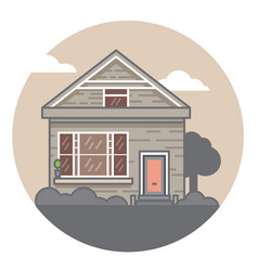a hand drawn home sweet home vector image vector image