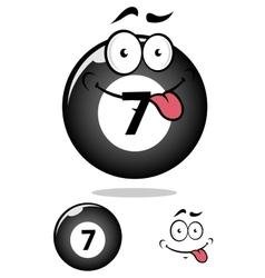 Billiard ball seven in cartoon format vector