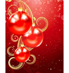Christmas and holiday background vector image