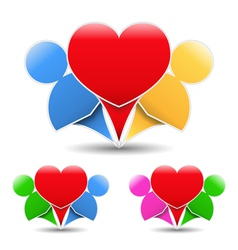 Icons of a happy couple vector image vector image