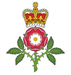 Royal badge of England Heraldic Tudor rose and vector image vector image