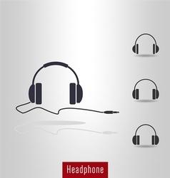 Set of Headphone icon vector image