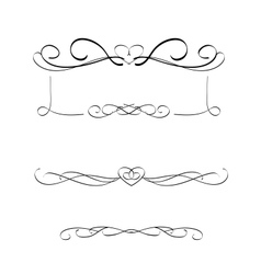 calligraphic frames vector image