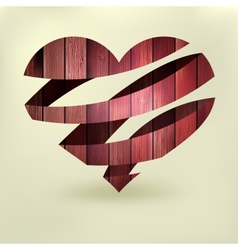 Heart in wood abstract EPS8 vector image vector image