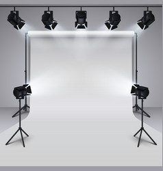 lighting equipment and professional photography vector image vector image