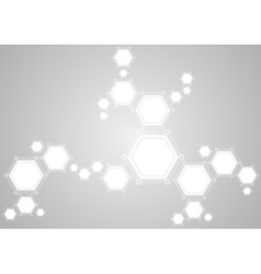 Molecular structure abstract tech light background vector image vector image