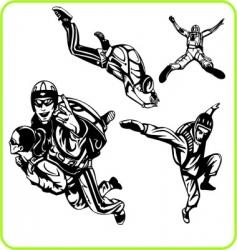 parachute jump vector image vector image