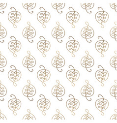 pattern of leafs vector image