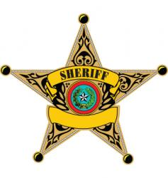 sheriff badge vector image