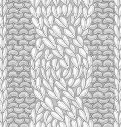 Six-Stitch cable stitch vector image