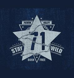 Abstract star t shirt print design vector
