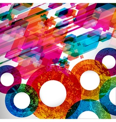 Colorful abstract design background vector image