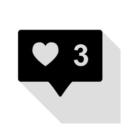 like and comment sign black icon with flat style vector image vector image