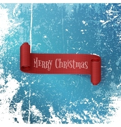 Merry christmas realistic red ribbon vector