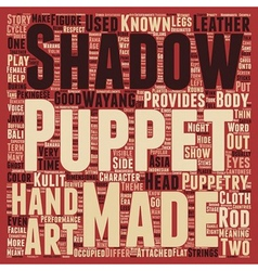 Puppet art in asia text background wordcloud vector