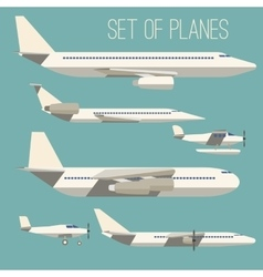 Set of flat planes vector image