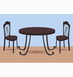 table and chairs vector image
