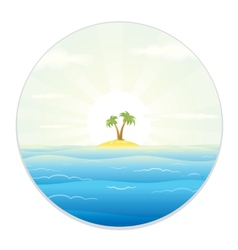View of The Tropic Island from the Field Glass vector image vector image