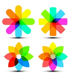 Abstract Colorful Shapes - Colorful Transparent vector image vector image