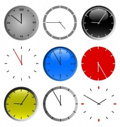 color wall clock vector image