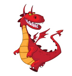 dragon red vector image vector image