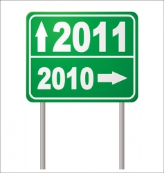 road sign 2011 vector image