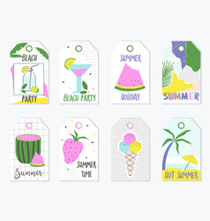 set of summer gift tags and labels vector image