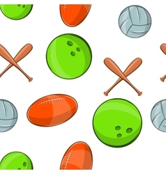 Sports stuff pattern cartoon style vector