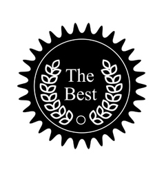 Winner award badge icon black simple style vector image
