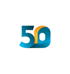 50 years anniversary celebration gradient blue vector
