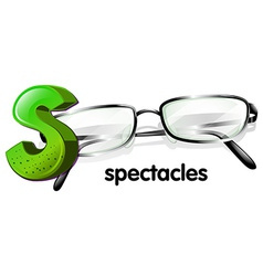 A letter S for spectacles vector image