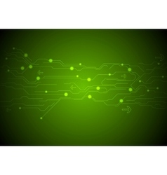 Abstract green technology background vector