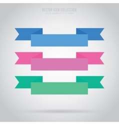 Abstract ribbon label isolated vector image