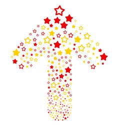 Ahead cursor arrow figure with decoration stars vector