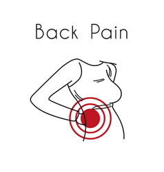 Back pain with woman vector