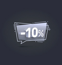 Banner 10 off with share discount percentage vector