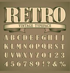 Bold vintage font vector