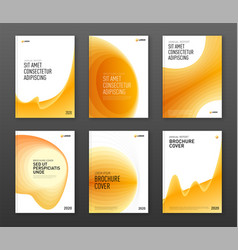 brochure cover design templates set for business vector image