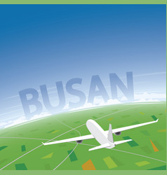 Busan flight destination vector