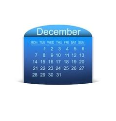 Calendar December 2015 vector image