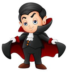 Cartoon vampire kid vector