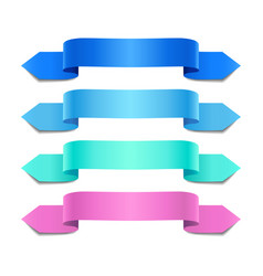 Colorful decorative ribbons vector
