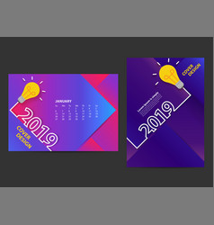 creative light bulb ideas 2019 new year design vector image
