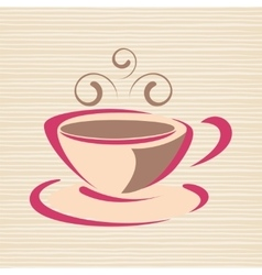 Cup of coffee with smoke vector image