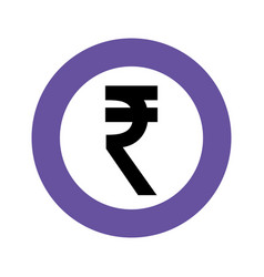 Currency coin indian rupee money vector