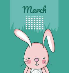 cute animal rabbit cartoon vector image