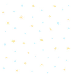 cute white seamless pattern with snow and stars vector image