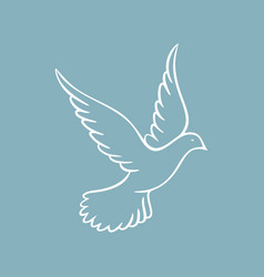 Dove symbol of the holy spirit vector