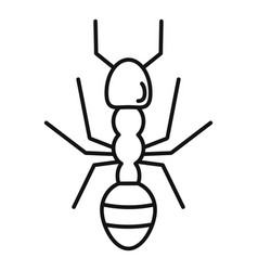 Farmer ant icon outline style vector